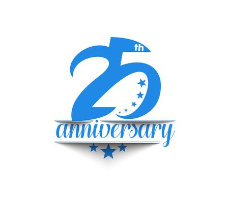25: 25th Years Anniversary Celebration Design.