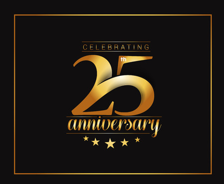25th: 25th Years Anniversary Celebration Design.