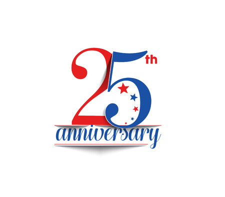 age 20 25 years: 25th Years Anniversary Celebration Vector Design. Illustration