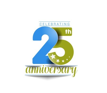 anniversary celebration: 25th Years Anniversary Celebration Design.