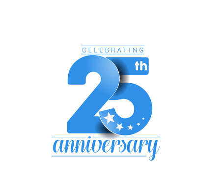 25th Years Anniversary Celebration Design. Zdjęcie Seryjne - 61054928