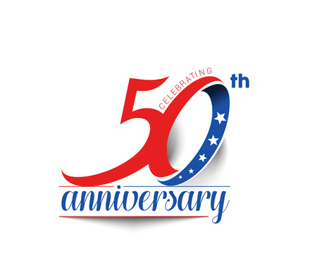 50th Years Anniversary Celebration Design. Ilustracja