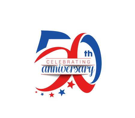 anniversary celebration: 50th Years Anniversary Celebration Design. Illustration