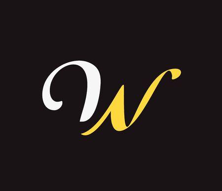 Vector graphic design element - W letter