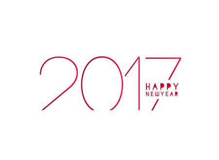 calendario diciembre: Feliz Año Nuevo 2017 Diseño del texto del vector