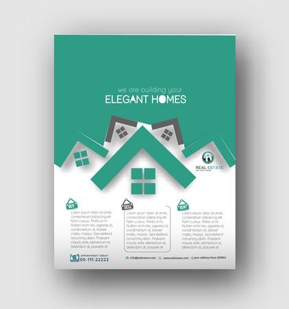 Agente Inmobiliario folleto y plantilla del cartel