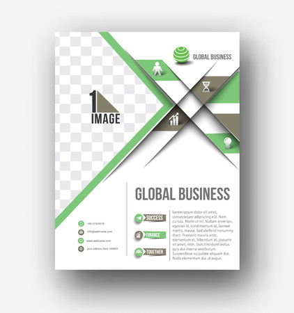 coporate: Business Flyer, Poster & magazine design Layout template in A4 size Vector