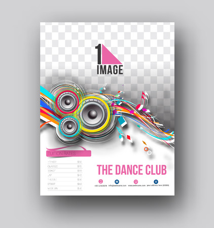 Dance Club Flyer & Poster Cover Template Illustration