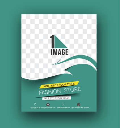 Folleto, cartel y diseño de plantilla de disposición de la revista en A4 tamaño del vector