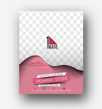 book design: Flyer, Poster & magazine design Layout template in A4 size Vector