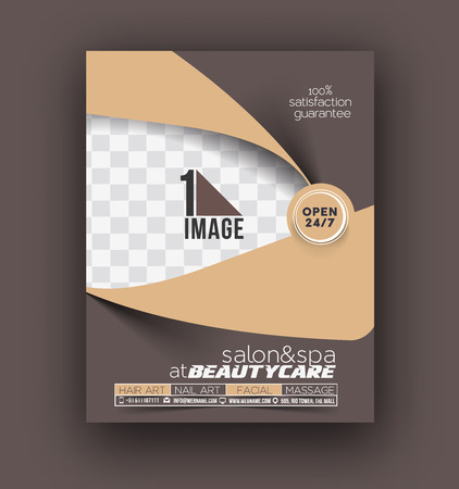 beauty care: Beauty Care & Salon Front Flyer & poster Template Illustration