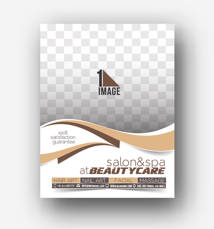 print template: Beauty Care & Salon Front Flyer & poster Template Illustration