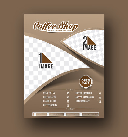 menu restaurant: Coffee House Menu Card Flyer, Magazine Cover & Poster Template Illustration