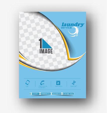 Laundry Service Flyer Poster Template Design Royalty Free Cliparts