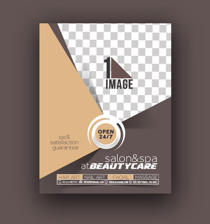 spa salon: Beauty Care & Salon Front Flyer & poster Template Illustration