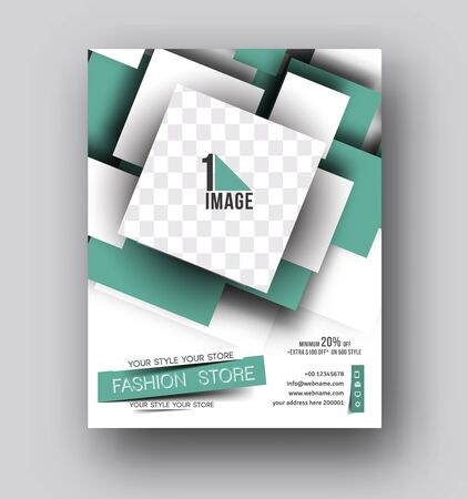 flyer layout: Flyer, Poster & magazine design Layout template in A4 size Vector