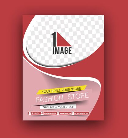 magazine design: Flyer, Poster & magazine design Layout template in A4 size Vector