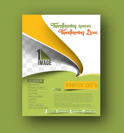 decorator: Interior Arts Decorator Flyer & Poster Template