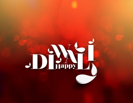 Happy Diwali Background. Abstract vector illustration on the theme of the traditional celebration