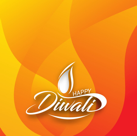religious event: Happy Diwali Background. Abstract vector illustration on the theme of the traditional celebration