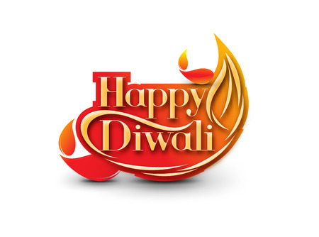abstract fire: Happy Diwali Background. Abstract vector illustration on the theme of the traditional celebration