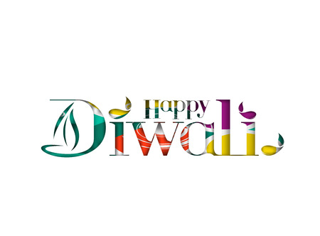 divinity: Happy Diwali Background. Abstract vector illustration on the theme of the traditional celebration