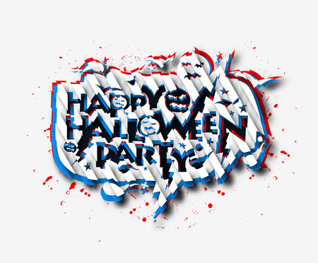 Happy Halloween greeting card Calligraphy - Text design. Halloween banner or poster.
