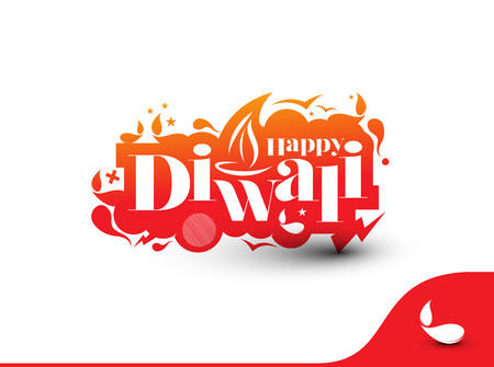 abstract fire: Happy Diwali Text Design Background. Abstract vector illustration.