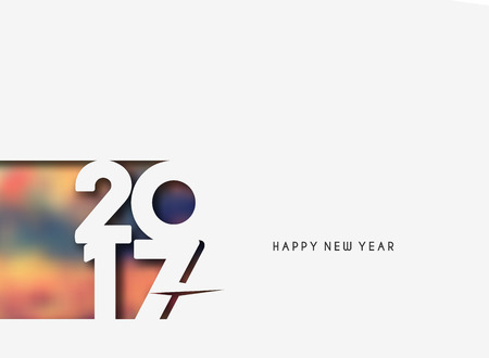 new years resolution: Happy new year 2017 lettering Text Vector Calligraphy Collection Design Background
