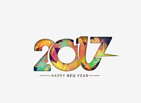 resolution: Happy new year 2017 lettering Text Vector Calligraphy Collection Design Background