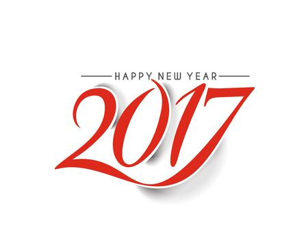 Happy new year 2017 lettering Text Vector Calligraphy Collection Design Background