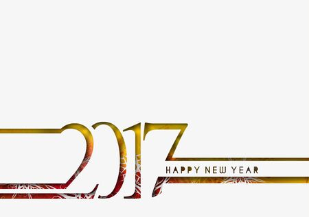 newyear: Happy new year 2017 lettering Text Vector Calligraphy Collection Design Background