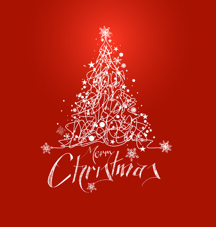 Merry Christmas Background.Merry Christmas Christmas Background Christmas Tree With Red