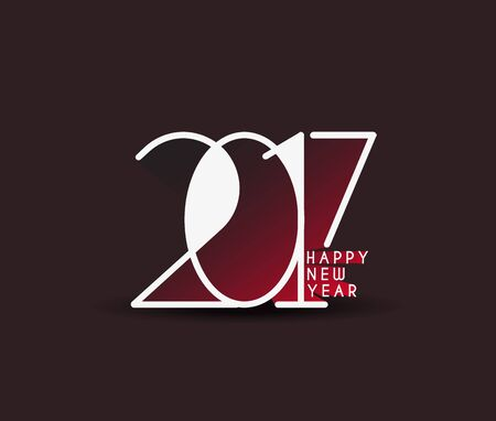 Happy new year 2017 Holiday Vector Illustration background