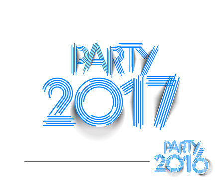 resolution: Happy new year 2017 & 2016 Holiday Text Vector Illustration background Illustration