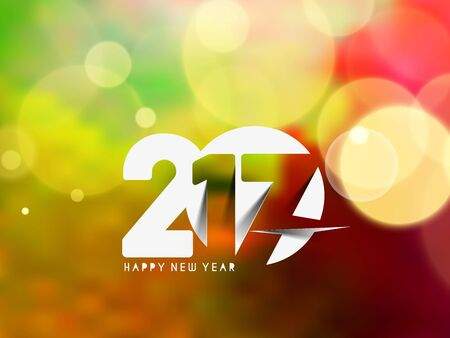 lighting background: Happy new year 2017 Holiday Lighting background, Vector Illustration