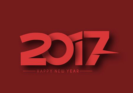 resolution: Happy new year 2017 Holiday Vector Illustration background