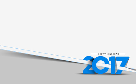 newyear card: Happy new year 2017 Holiday Vector Illustration background