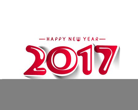 resolution: Happy new year 2017 - New Year Holiday design elements for holiday cards, for decorations Vector Illustration background