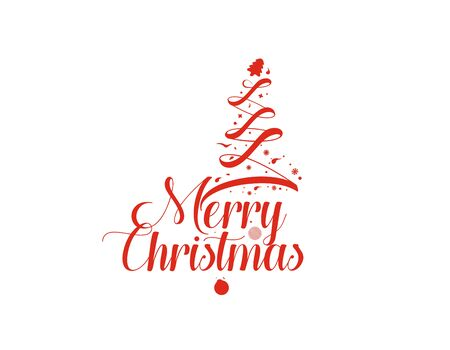 Christmas Tree Background -  Merry Christmas  Text design elements for holiday cards, banner, poster for decorations wallpaper