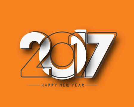 happy newyear: Happy new year 2017 Holiday Vector Illustration background