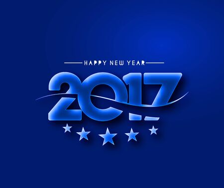 new years eve party: Happy new year 2017 Text Design vector illustration