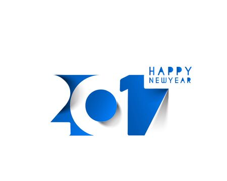 text year: Happy new year 2017 Text Design vector illustration