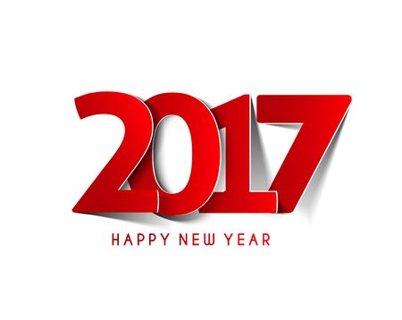 newyear: Happy new year 2017 Text Design vector illustration