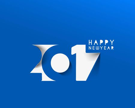 new years resolution: Happy new year 2017 Text Design for Flyers and Greetings Card. Vector illustration Illustration