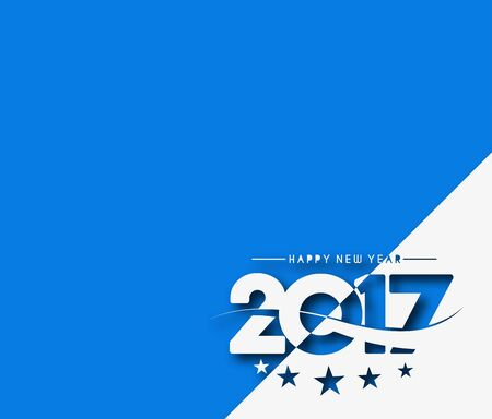 Happy new year 2017 Text Design for Flyers and Greetings Card. Vector illustration Illustration