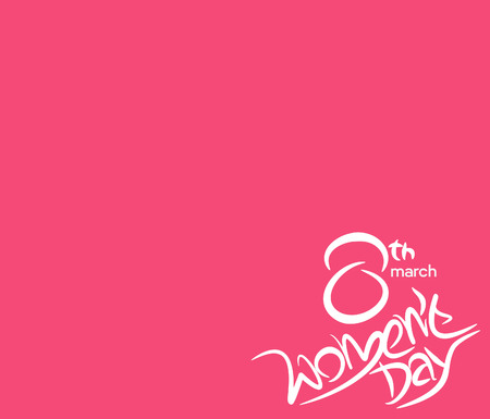 Women's health: Happy womens day stylish typography text illustration.