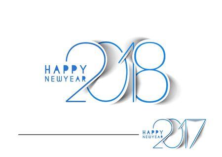 Happy new year 2018 - 2017 Text Design Vector illustration Illustration