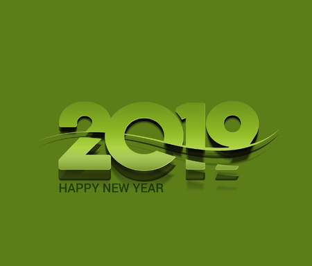 Happy New Year 2019 Text Design Pattern Illusztráció