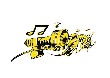 Musical instruments background. Vector illustration design. Illustration